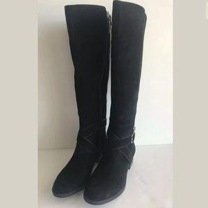 DKNY Women's Mattie Suede Knee High Riding Boot